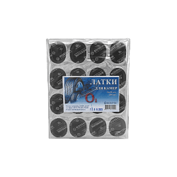 О1 Латки овальные для ремонта камер 24*36мм (пакет 200шт) Rossvik Латки для камер Расходные материалы